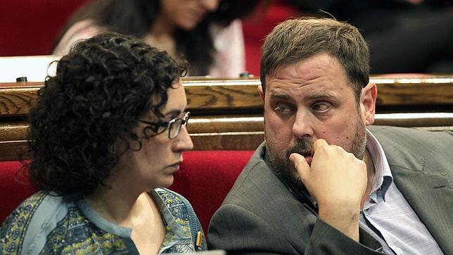 Marta Rovira y Oriol Junqueras