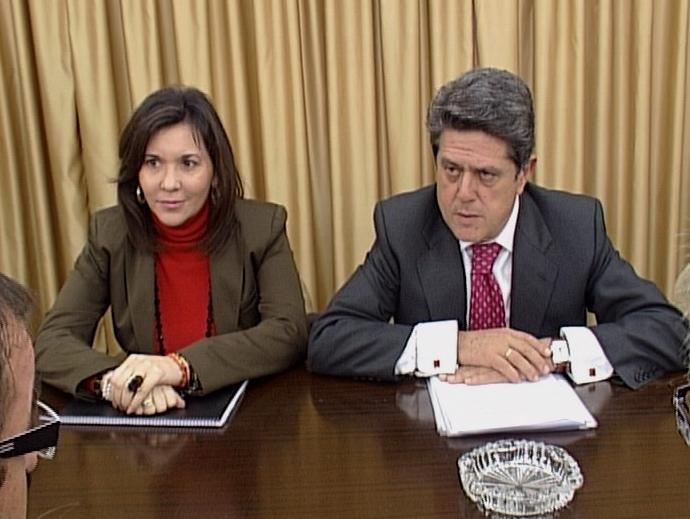 Mercedes Alonso, alcaldesa de Elche y Federico Trillo.