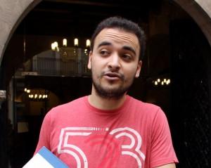 El catalán Mourad El Boudouhi, portavoz d la asociación islamista Watani.