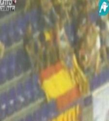 La bandera de España del aficionado en el Palau Blaugrana