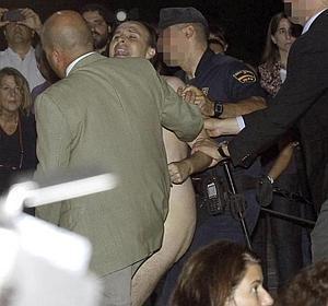 Imagen de Carlos D. S. al ser detenido por la Policía.