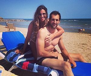 El matrimonio, en la playa, este verano.