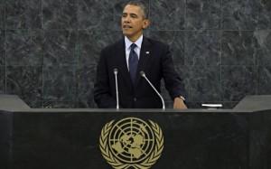 El presidente de EE UU, Barack Obama, pronuncia su discurso ante Naciones Unidas