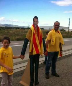 Uno de los figurantes de catón caracterizado de Rajoy