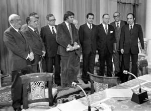 Algunos de los políticos protagonistas de la Transición