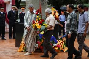 Representantes de la Comundad Musulmana de Montmeló pariciparon en los actos de la Diada