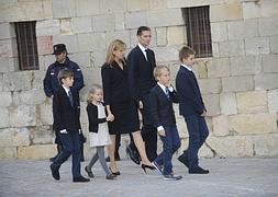 Los duques de Palma, con sus hijos.