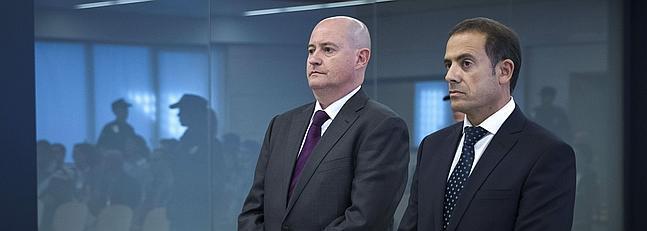 Enrique Pamiés (i) y José María Ballesteros (d), durante el juicio.