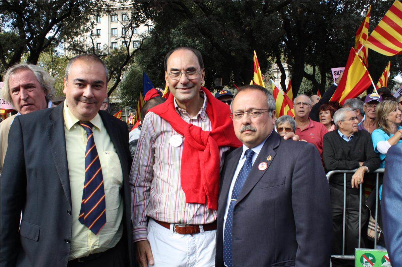 Vidal-Quadras, junto a Gerard Bellalta y Armando Robles