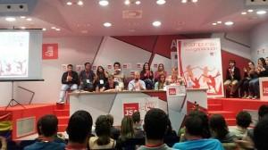 Imagen de archivo de un acto de las Juventudes Socialistas de Aragón, en la sede zaragozana del PSOE