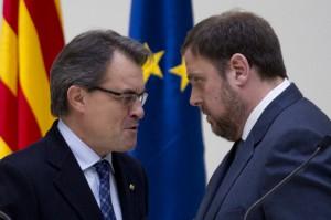 Artur Mas (i) y Oriol Junqueras