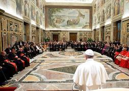 El Papa Francisco, ayer en Ciudad del Vaticano.