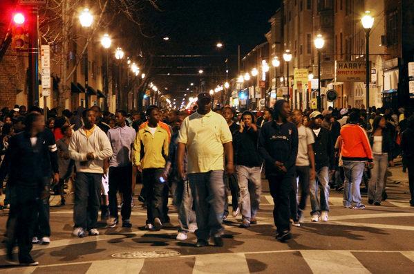 Un grupo de subsaharianos sembró el terror en la calles de Palma en el verano de 2015.