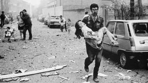 Paisaje del horror tras la explosión de Vic