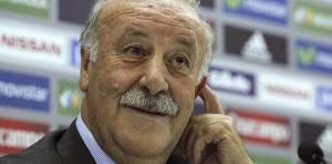 Del Bosque, en la rueda de prensa en la que facilitó la lista de 'La Roja'.