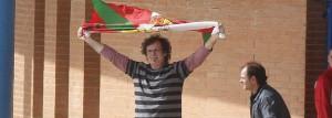 El histórico etarra Juan Carlos Arruti Azpitarte, 'Paterra', en el momento de abandonar la prisión.