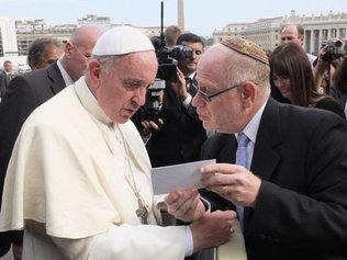 Francisco I y el rabino Mario Rojzman