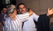 Salvador Mera sale en libertad de los juzgados de Sevilla, el pasado 10 de octubre, tras conocer el auto de la jueza Alaya.