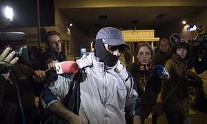 Pedro Luis Gallego Fernández, conocido como 'El violador del ascensor', a su salida de la prisión Alcalá-Meco.