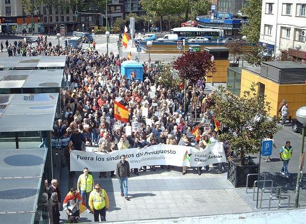 Manifestación de la Plataforma de las Clases Medias contra la corrupción de los sindicatos