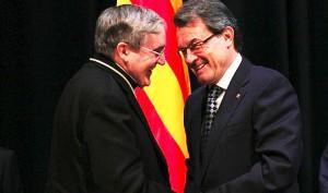 Artur Mas y el arzobispo de Barcelona, Lluís Martínez Sistach