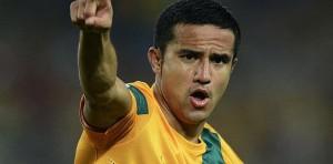 Tim Cahill celebra un gol con Australia.