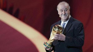 Vicente Dl Bosque, durante el sorteo de los grupos del Mundial de Brasil
