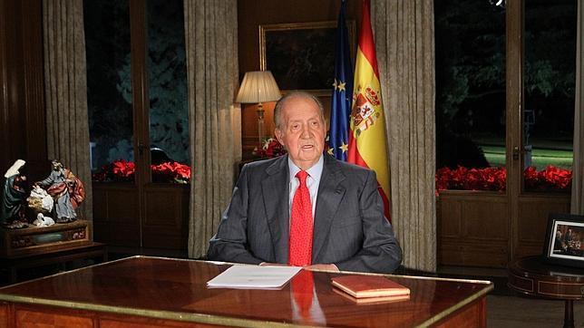 on Juan Carlos transmitió su Mensaje de Navidad desde el Salón de Audiencias de La Zarzuela