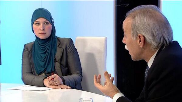Esma Kucukalic, en uno de los programas de Córdoba Internacional TV