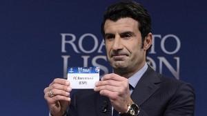 Luis Figo, tras sacar la papeleta del Barcelona