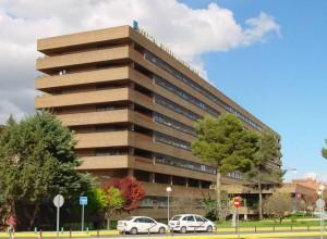 Vista del Hospital Universitario de Albacete donde fue operada María Fernanda Gómez Martínez, esposa del consejero de educación Marcial Marín