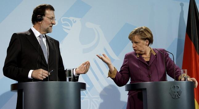 Mariano Rajoy y Angela Merkel