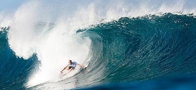 Fanning logró su objetivo en una manga espectacular con olas de más de cinco metros.