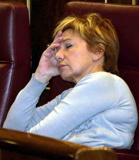 Celia Villalobos, en plena faena en el Congreso