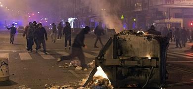 Imagen de las protestas de Burgos este sábado por la noche.