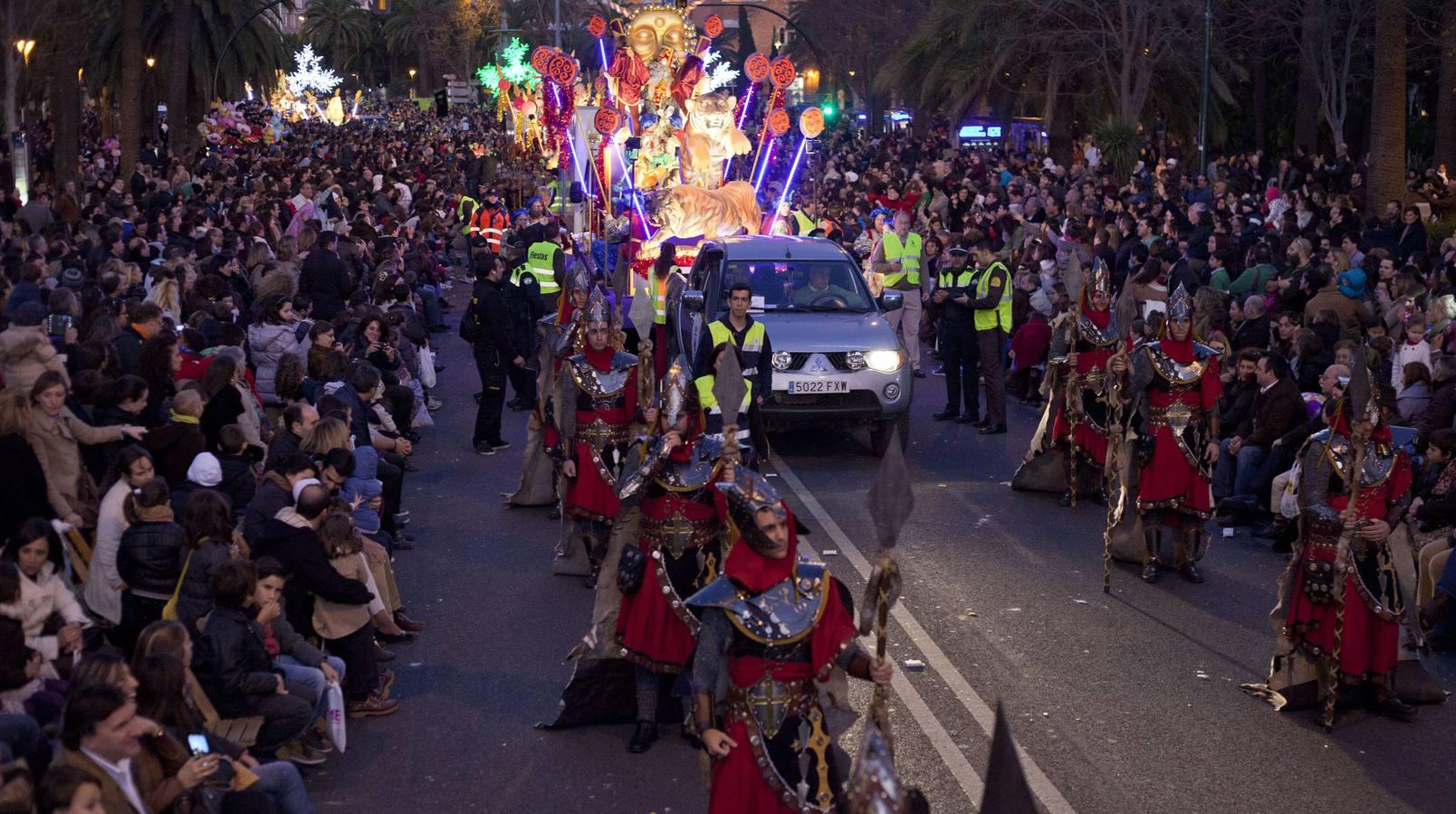 Imagen de la cabalgata de Reyes en Málaga