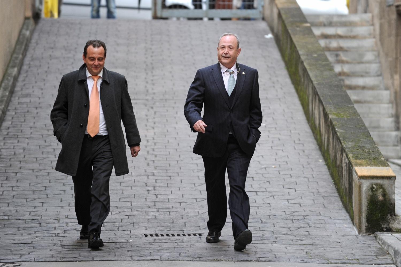 El fiscal Pedro Horrach y el juez José Castro acuden a un juicio en Palma.