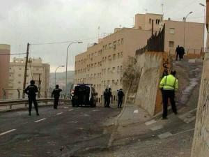 Foto realizada por miembros de SOLUCIONA sobre los graves disturbios que han tenido lugar en el barrio musulmán de la Cañada.
