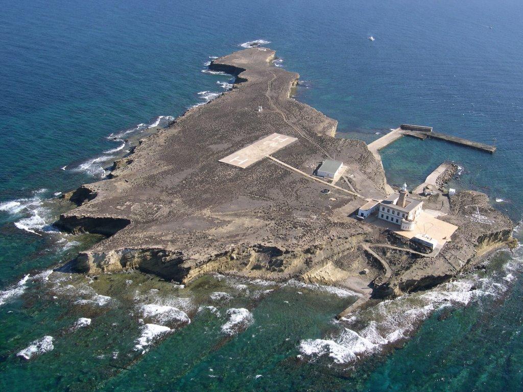 Imagen de la isla de Alborán