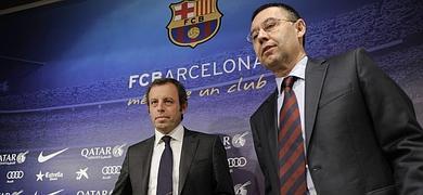 Sandro Rosell, junto a Bertomeu, nuevo presidente culé.