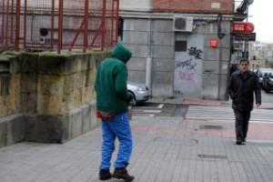 El violento africano (i), en el paseo de Canalejas.