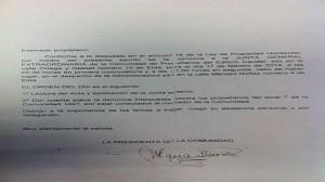 Imagen del acta que advierte de la denuncia interpuesta contra UGT en Elda