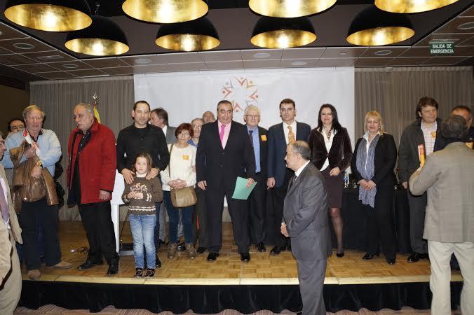 Algunos de los participantes, al final del acto.