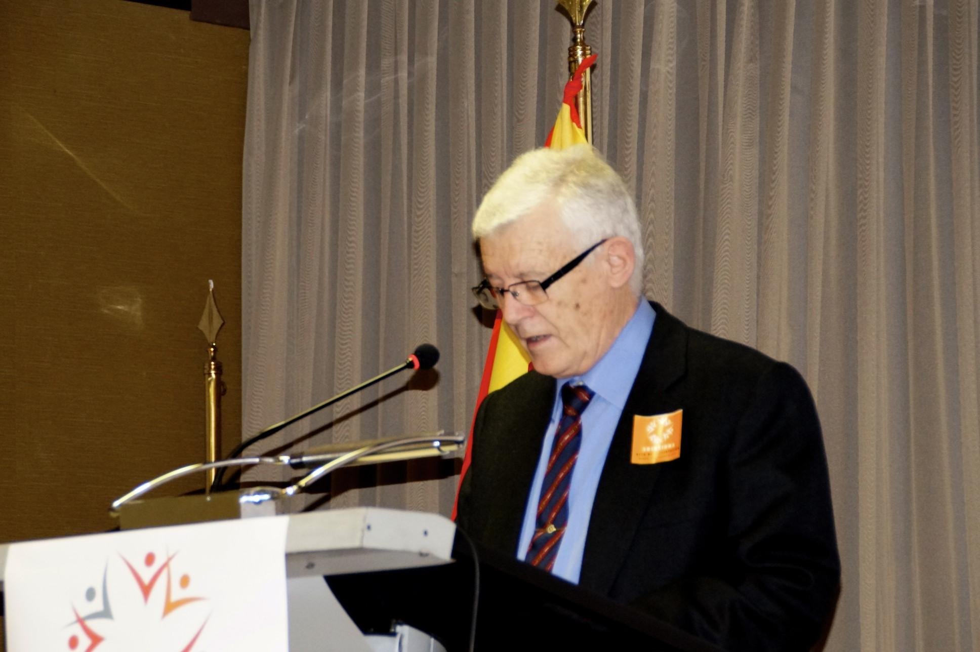 Antonio Vsldivia, durante su intervención