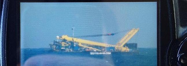 Imagen del usuario de Twitter @javicelard sobre lo avistado en el mar.