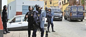Agentes de la Policía, en el barrio del Príncipe