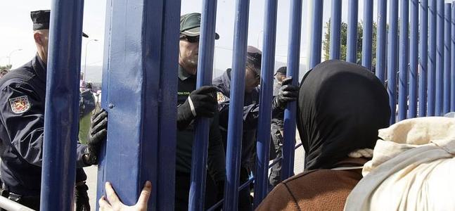 Imagen del puesto fronterizo de Beni Enzar.