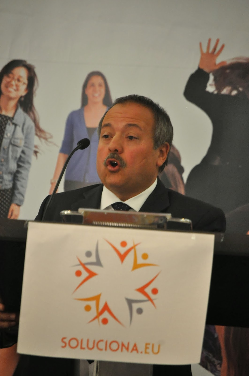 Gerard Bellalta, durante el acto de presentación de SOLUCIONA en Cataluña