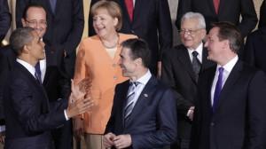 Obama, con los líderes europeos.