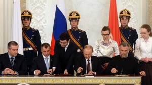 Vladimir Putin firmó la pasada semana el tratado para reconocer a Crimea como parte de Rusia.